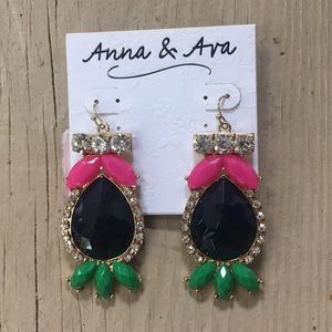 NWT Anna & Ava statement jewel earrings
